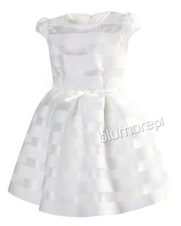 Wytworna sukienka 134-158 Sonia ecru