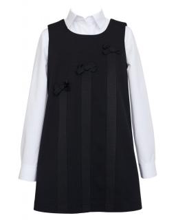 Elegancka sukienka dzianinowa 122-152 201/SZK czarna