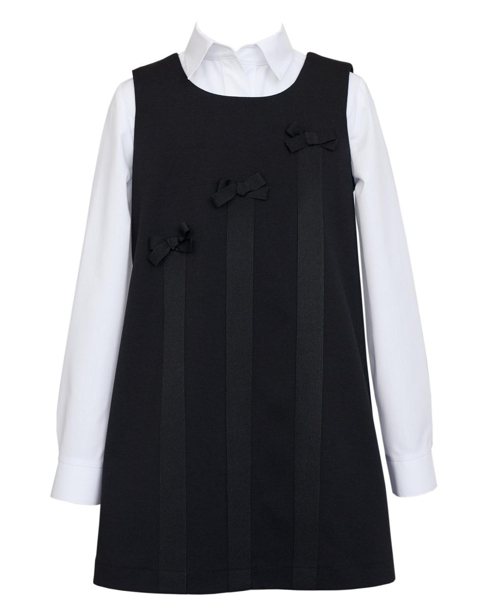 a4ef2f3910 Elegancka sukienka dzianinowa 122-152 201 SZK czarna