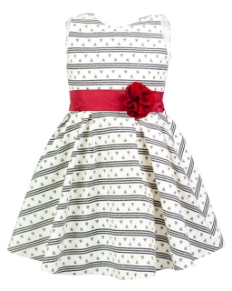 Wzorzysta sukienka z kwiatkiem 134-158 Aster