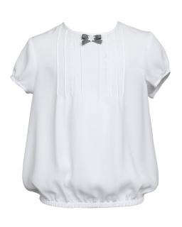 Bluzeczka bombka ze zdobieniem 128-158 133/SZK biel
