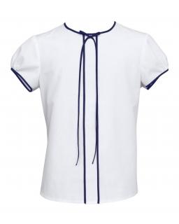 Bluzka dla dziewczynki 128-158 127b/SZK Biel plus granat