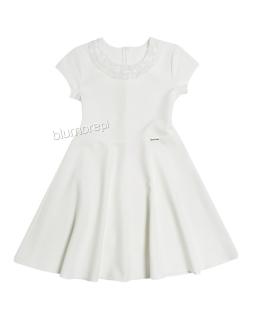 Klasyczna sukienka szyta z koła 152-164 Otylia ecru