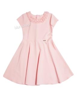 Prosta sukienka dla dziewczynki 152-164 Otylia łososiowy