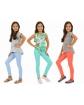 Tregginsy dla dziewczynki 116-158 KRP17 Trzy kolory