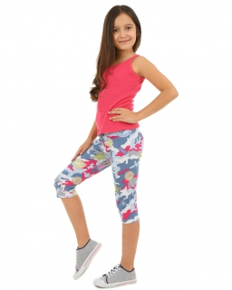 Kolorowe legginsy 3/4 104-164 KRP24 multikolor