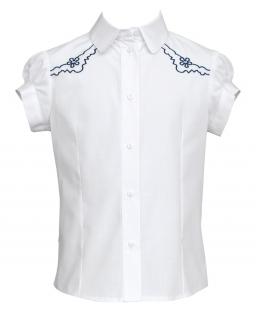 Koszula z krótkim rękawem 122-146 109b/SZK biel