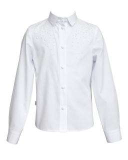 Elegancka koszula z dżetami 128-158 112/SZK biel