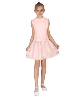 Modna sukienka bez rękawków 92-140 Irma róż