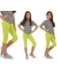 Klasyczne leginsy 3/4 dla dziewczynki 104-158 KRP37 mix kolorów