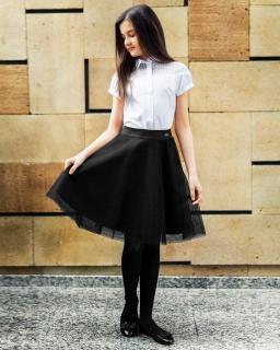 Rozkloszowana spódnica dla dziewczynki 128-164 307/SZK czarny
