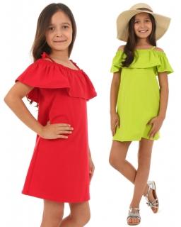 Sukienka hiszpanka dla dziewczynki 116-158 KRP46 dwa kolory