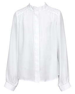 Koszula mgiełka ze stójką 134-164 141/SZK biel