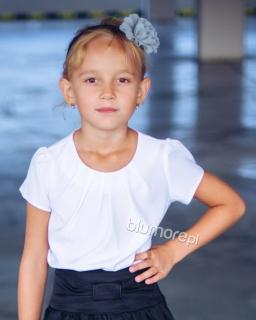 Urocza galowa bluzka do szkoły 116 - 170 Lili biała