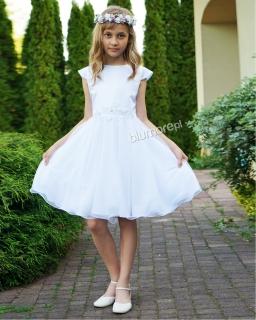 Rozkloszowana sukienka 140-158 Emma biel