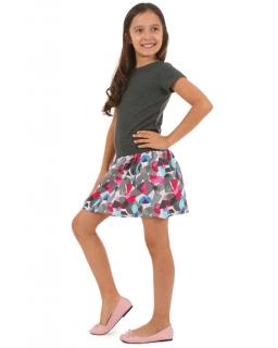 Sukienka dla dziewczynki 116-158 KRP53 grafit