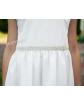 Prosta sukienka z perełkami 62-152 Urszula ecru