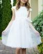 Sukienka z tiulową szarfą 116-164 Lola ecru