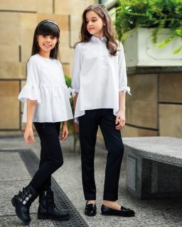 Eleganckie spodnie z prostą nogawką 128-164 402/SZK czarny