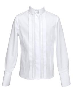 Koszula z zakładkami 128-158 121/SZK biel