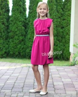 Modna sukienka dla nastolatki 140-164 Roma amarant