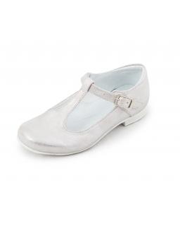 Eleganckie buciki dla dziewczynki 25-30 BA11 srebrny przecierka