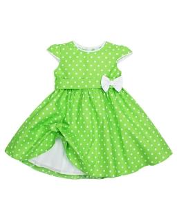 Bawełniana sukienka w grochy 80 - 146 Kasia zielony