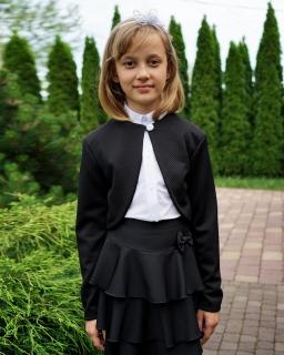 Pikowane bolerko dla dziewczynki 104-152 bo03 czarne