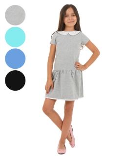 Sukienka z kołnierzykiem 116-146 KRP59 Cztery kolory
