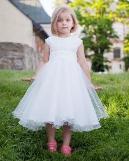Okazjonalna jasna sukienka 86-146 Amanda ecru