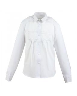 Galowa koszula z długim rękawem 128-164 Ruta biel