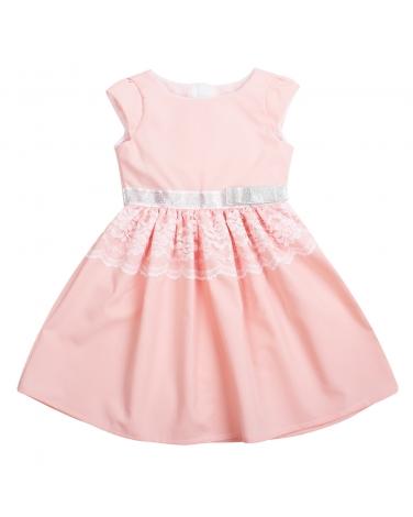 Sukienka z koronkową wstawką 62-152 Aleksandra morela