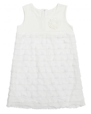 Sukienka z falbankami na lato 110 - 140 Blanka ecru