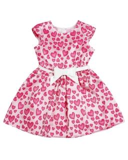 Sukienka w serduszka dla dziewczynki 104-140 Mia 2 róż