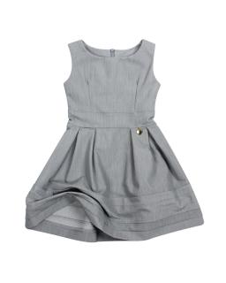 Sukienka z zawieszką dla dziewczynki 122-164 Wiki 2 szary