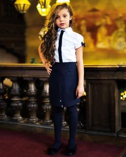 Elegancka galowa spódnica dziewczęca 134-152 Zoya granat