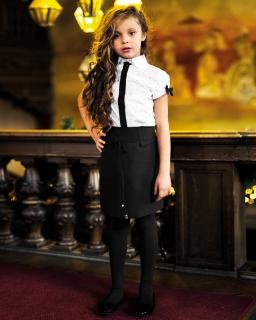 Galowa prosta spódnica dziewczęca 134-158 Zoya czarna