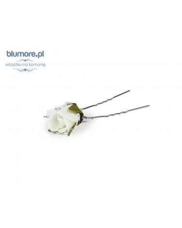Szpilka z różą SPK05 biały