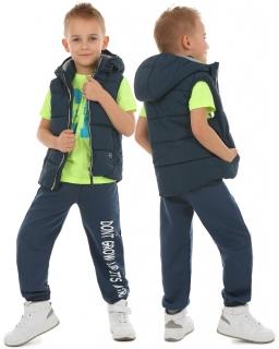 Chłopięce spodnie dresowe 116-158 KRP61 Niebieski