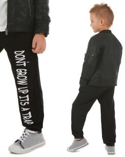 Sportowe spodnie dresowe 116-158 KRP61 Czarny