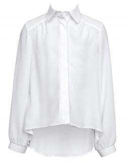 Galowa bluzka z długim rękawem 140-170 104/SZK biel