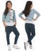 Sportowe spodnie baggy dziewczęce 116-158 KRP63 Granat
