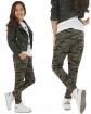 Spodnie baggy z obniżonym krokiem 116-158 KRP63 Moro