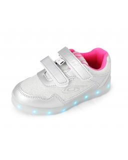 Buty ze świecącą podeszwą 28-35 04/CLB silver