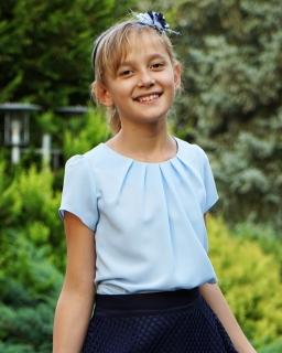 Bluzeczka z żorżety 116 - 170 Lili błękit
