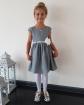 Elegancka sukienka z kwiatkiem 62 - 152 Samanta szara