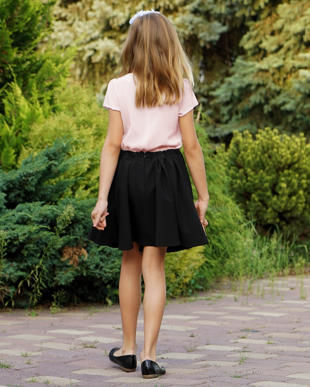 92408e7054 Galowa spódnica z zakładkami 116-164 Ilona czarna