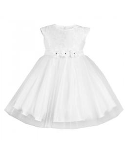 Rozłożysta okazjonalna sukienka 98-128 Erica biel