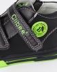 Trzewiki chłopięce z zielonymi wstawkami 21-26 12/CLB czarny