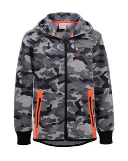Bluza moro z pomarańczowymi wstawkami 92-170 BPU-4356 szary